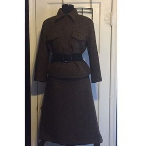 Made In Italy Dresses - Vintage Made In Italy Brown Tweed Suit
